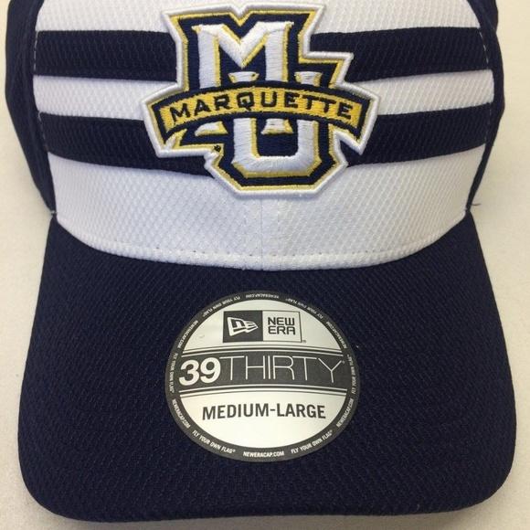 ac191146495 Men s New Era Marquette Golden Eagles 39Thirty Cap